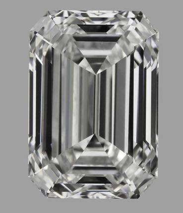 Emerald cut diamond EX Polish Ex Symmetry E VVS1