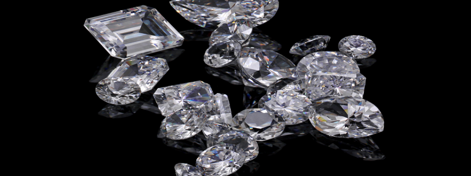 diamonds of various popular shapes